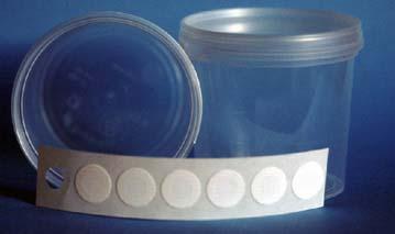 adhesive microfiltration discs
